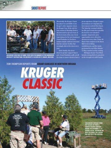 Kruger Classic - Clay Shooting USA