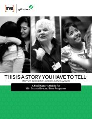 THIS IS A STORY YOU HAVE TO TELL: - Girl Scouts of the USA