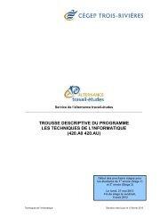 Techniques de l'informatique - Cégep de Trois-Rivières