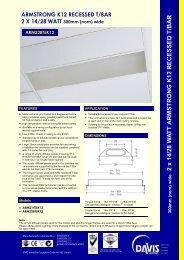 Recessed T/Bar diffused T5 - Davis Lighting