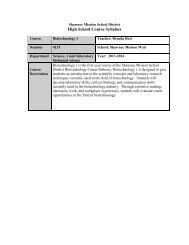 High School Course Syllabus - Teachers - Shawnee Mission School ...