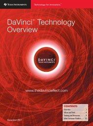 DaVinci Technology Overview Brochure (Rev. A - HW.cz