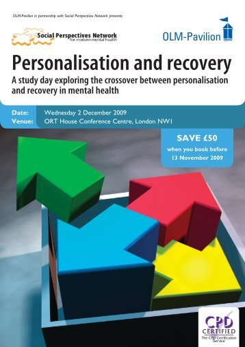 Personalisation and recovery - Social Perspectives Network