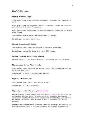 Lürzer's Archive 05/2007 Página 7, Accesorios, Zippo Arriba izquierda