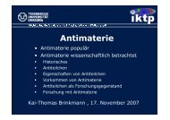 Antimaterie - Physik am Samstag