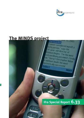 The MINDS project Ifra Special Report 6.33