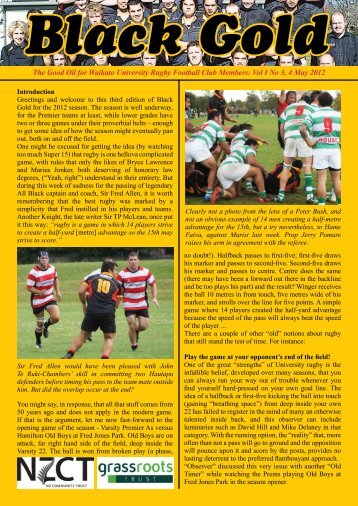 Newsletter 3 - UoW Sport