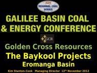 Eromanga Coal Presentation presented by Kim Stanton-Cook