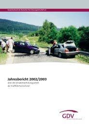 Jahresbericht 2002/2003 - Unfallforschung der Versicherer