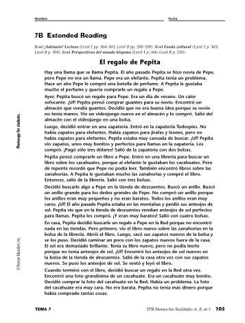 7B Extended Reading El regalo de Pepita - CIBACS