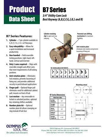 B7 Series Product Data Sheet - Olympus Lock