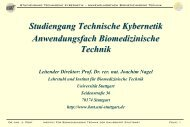 Vortrag Biomedizinische Technik - Technische Kybernetik