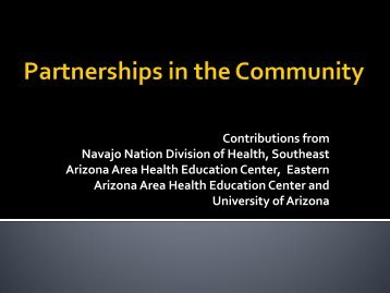 Partnerships in a Rural Tribal Community - Mel and Enid Zuckerman ...