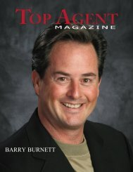 BARRY BURNETT - Top Agent Magazine
