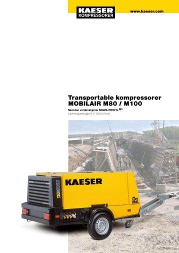 M 80/100 5.5–10.2 m³/min 195–360 cfm - KAESER Kompressorer