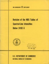 Revision of the NBS Tables of Spectral-Line Intensities Below 2450 A