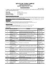 H - Student Welfare Division - BITS Pilani