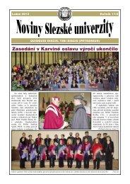 Noviny Slezské univerzity - Slezská univerzita v Opavě