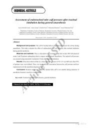 Assessment of endotracheal tube cuff pressure after tracheal ... - Sid