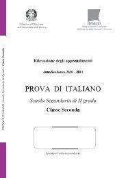 Italiano classe seconda 2010-2011 -