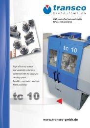tc 10 single spindle automatic lathe - Transco Drehautomaten