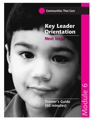 KLO Training Guide Module 6 - Social Development Research Group