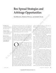 Box Spread Strategies and Arbitrage Opportunities - Iex