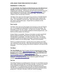to print full details - The Mid Cheshire Community Rail Partnership