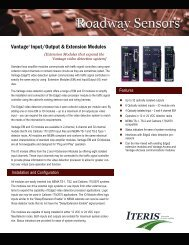 ITERIS Vantage Input, Output & Extension Modules - Temple, Inc.
