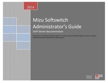 Admin Guide - Mizu Voip
