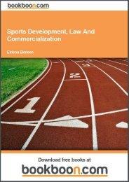 Sports Development, Law And Commercialization - Tutorsindia