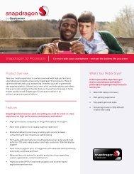 Snapdragon S2 Processors - Qualcomm Developer Network