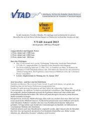 VTAD Award 2013 - Vereinigung Technischer Analysten ...