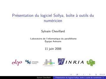 Présentation du logiciel Sollya, boîte à outils du ... - Genopole de Lille