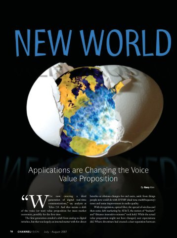 Applications are Changing the Voice Value Proposition