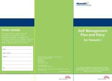 Self Management Plan and Diary
