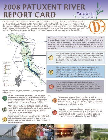 2008 PATUXENT RIVER REPORT CARD
