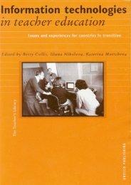 Information Technologies in Teacher Education