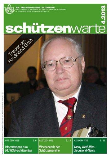 Trauer um Ferdinand Grah - Schützenwarte - Westfälischer ...
