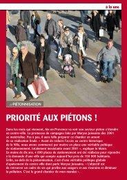 PRIORITÉ AUX PIÉTONS ! - Aix-en-Provence