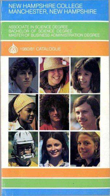 1980-1981 undergraduate catalog - SNHU Academic Archive