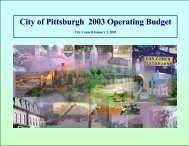 City of Pittsburgh 2003 Operating Budget