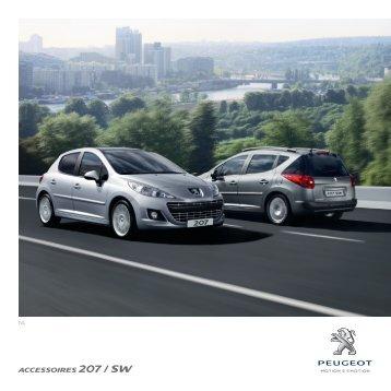 ACCESSOIRES 207 / SW - Peugeot Services