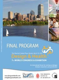Scientific Program - the International Academy of Design and Health