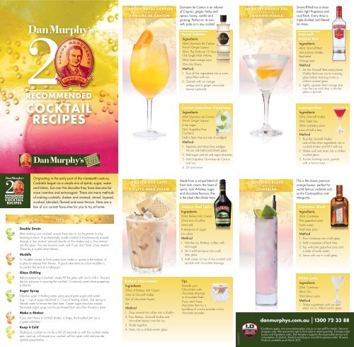 Cocktail Recipes Dan Murphy S