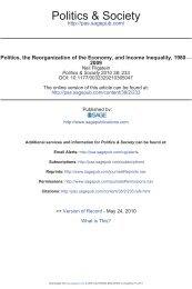 Politics & Society - UC San Diego