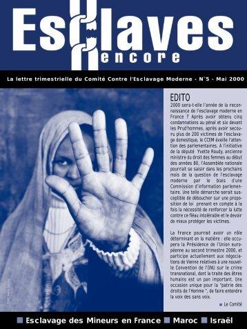 ESCLAVE ENCORE 05/2000 - Comité contre l'esclavage moderne