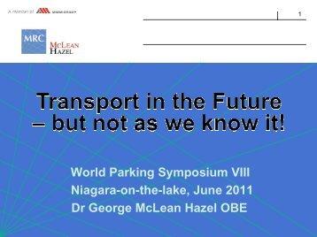McLean Hazel - World Parking Symposium