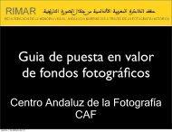 Centro Andaluz de la Fotografía CAF - Proyecto RIMAR