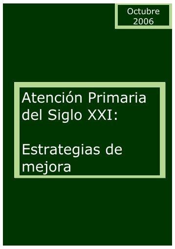 Atención Primaria del Siglo XXI: Estrategias de mejora - samFYC ...